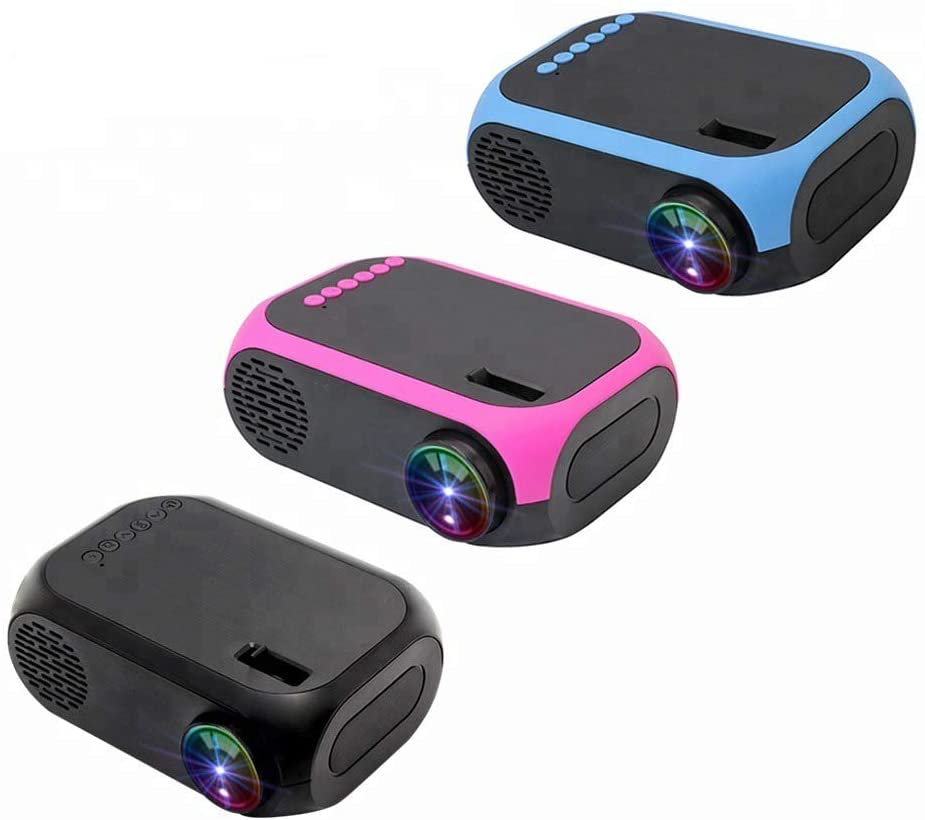 Portable Projector, Mini Pocket Portable LED Mini Projector, USB Connected Audio and Video Equipment