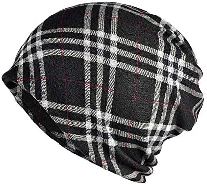 FUNSQUARE Men Women's Cotton Baggy Slouchy Beanie Chemo Hat Cap Scarf