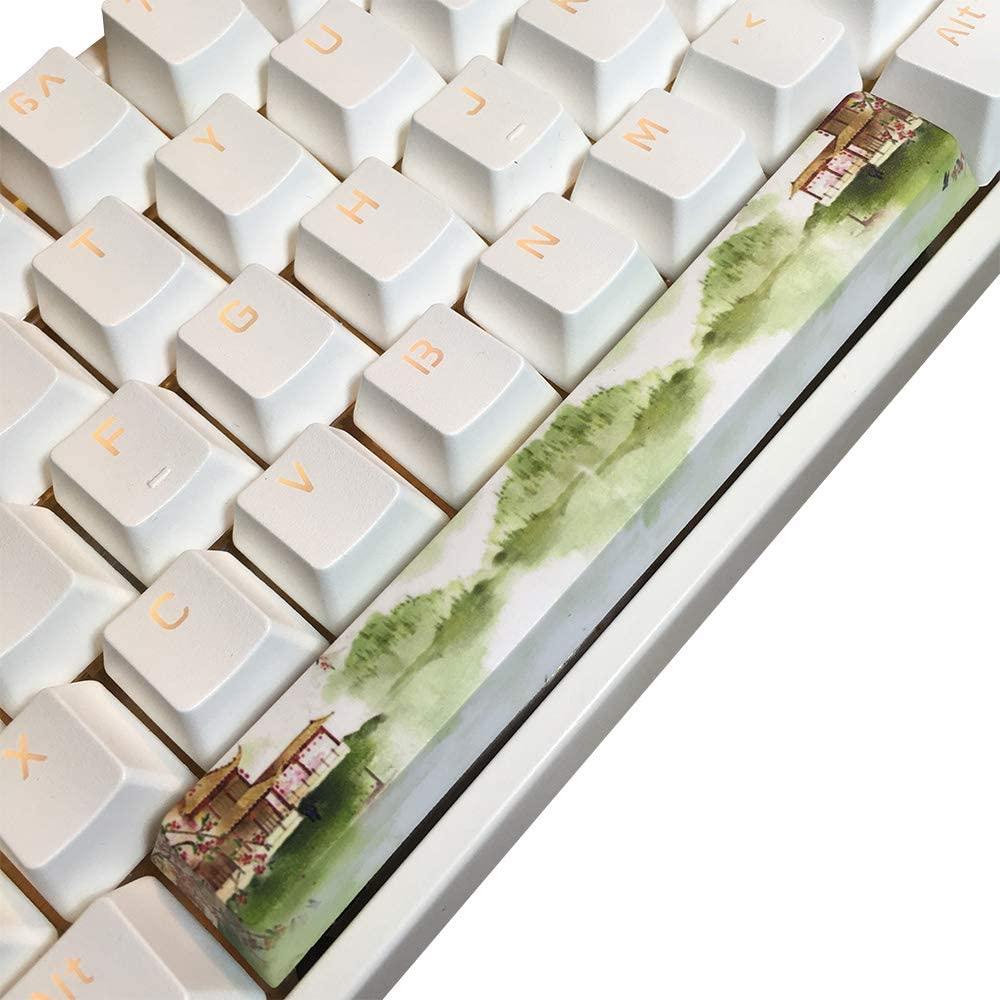 Benemate Spacebar Keycap, 5-Side Dye-subbed PBT Cherry Profile, DIY Keycap, 6.25U 6.25X Key for Gaming Mechanical Keyboard, Chinese Wonderland