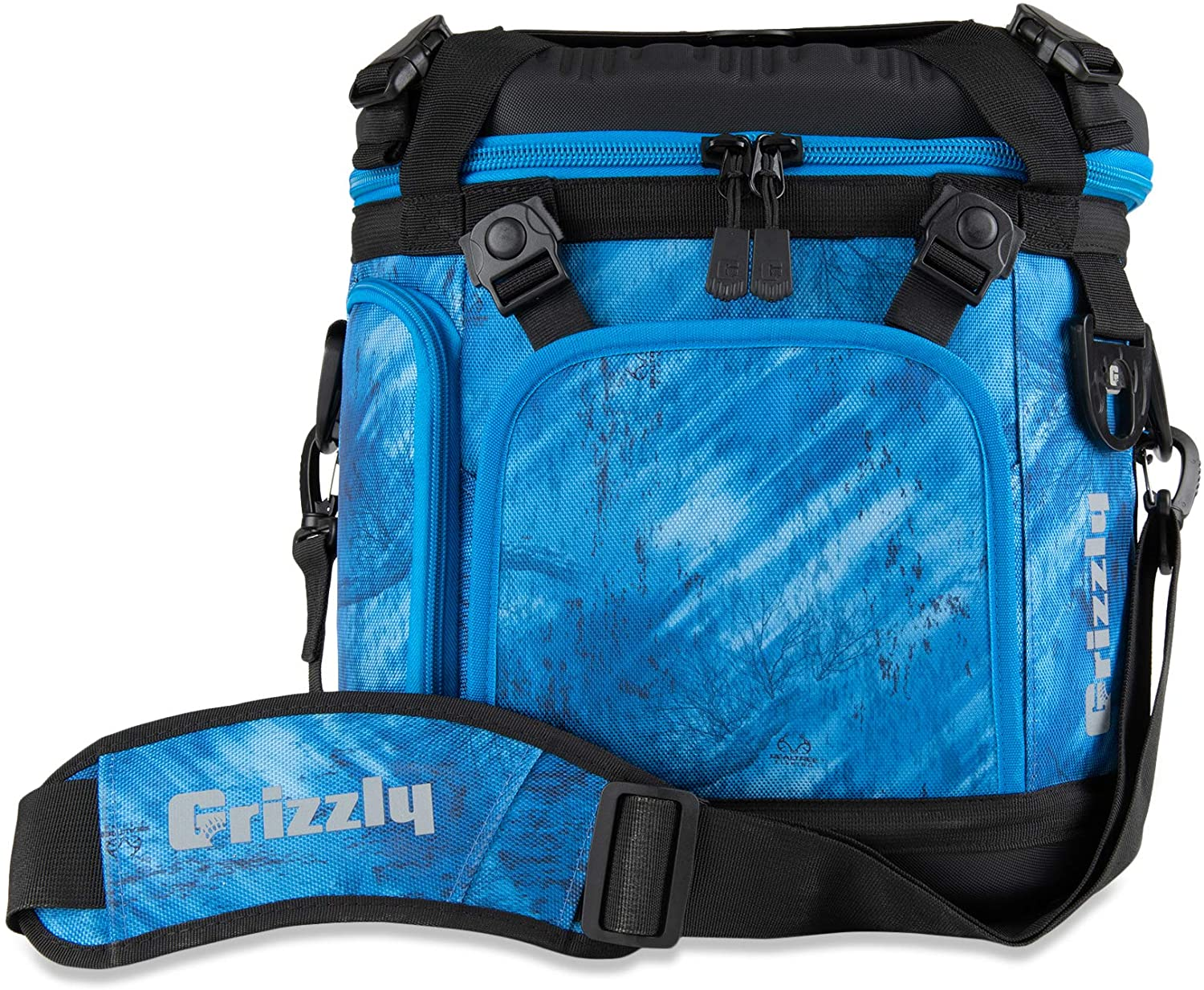 Grizzly Drifter 20 Flip-top Soft Cooler, Realtree Fishing Blue/Black, 20 QT