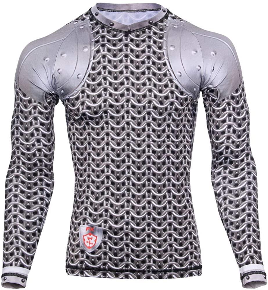 FightX Men's High Performance Compression UPF 50+ Sun Protection Long Sleeve Rash Guard