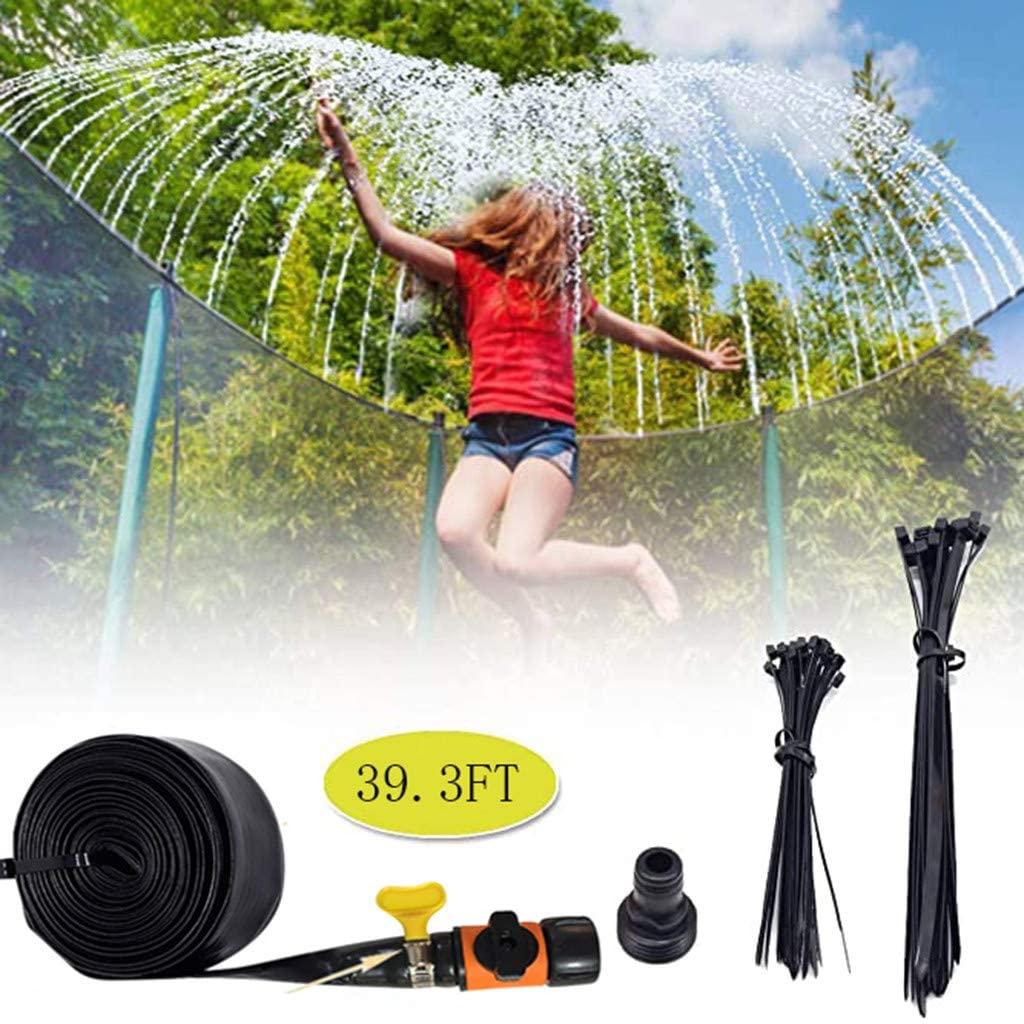 Trampoline Sprinkler, Trampoline Water Park Sprinkler, Outdoor Water Play Sprinklers for Kids Fun Water Park, Summer Games Yard Toys Sprinkler (39.3FT)