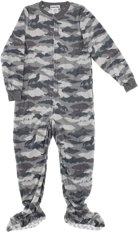 Komar Kids Boys Fleece Blanket Sleeper Footed Pajamas