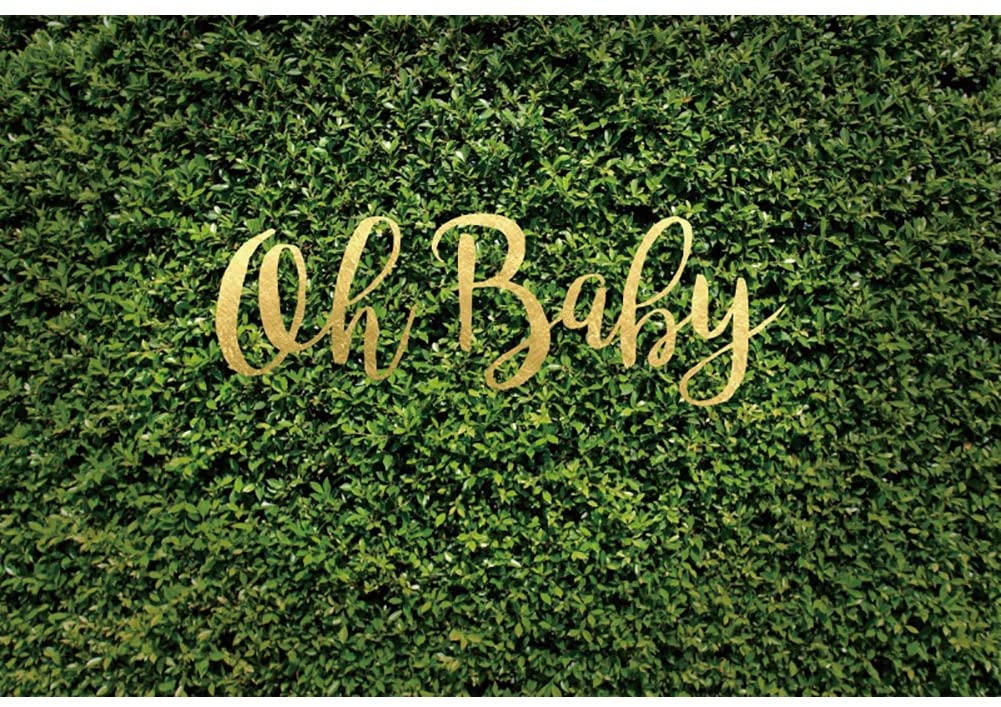 Leyiyi 5x4ft Oh Baby Spring Garden Leaves Backdrop Gardening Plant Greenery Wall Banner Vane Branch Cover Background Boy Girl Baby Shower Newborn Announce Pregnancy Birthday Party Photo Studio Prop