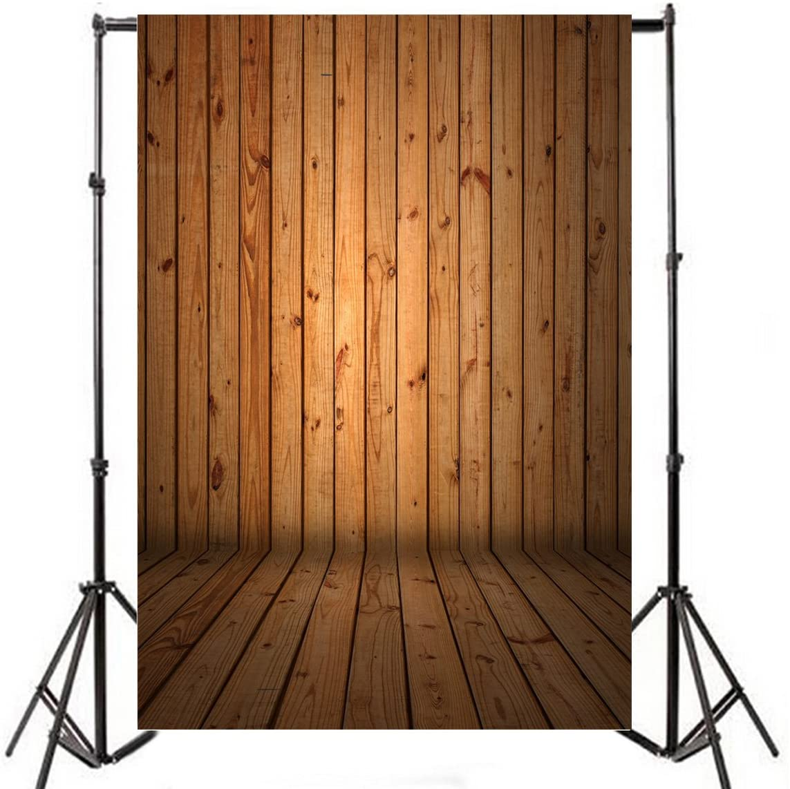 Yeele 5x7ft Wood Floor Photography Backdrop Vintage Rural Brown Wooden Board Wall Photo Background Baby Adult Portrait Shooting Party Banner Decor Photo Booth Shooting Studio Props