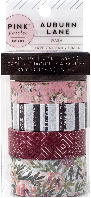 Pink Paislee Washi Tape Embellishments, Multicolor