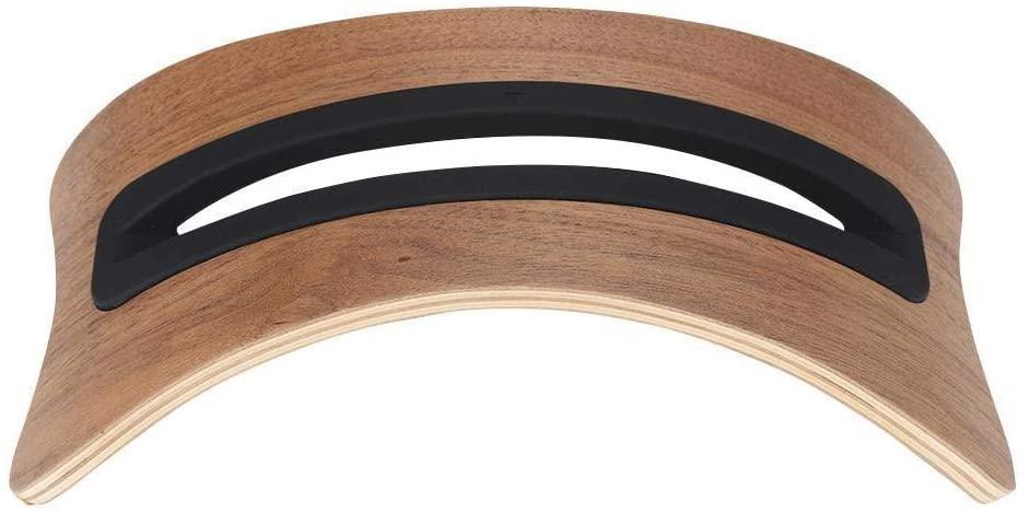 Rockyin SamDi Arch Bridge Wooden Desk Holder Stand Applicable to Tablets for MacBook Air (Black Walnut)