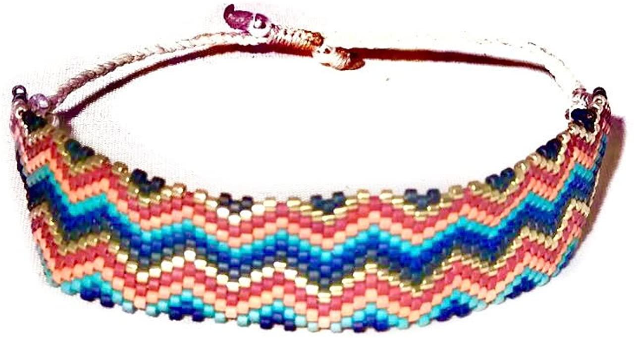 Serendipia Miyuki Braided Handmade Bracelet, Colorful One Size Fashion Accesories