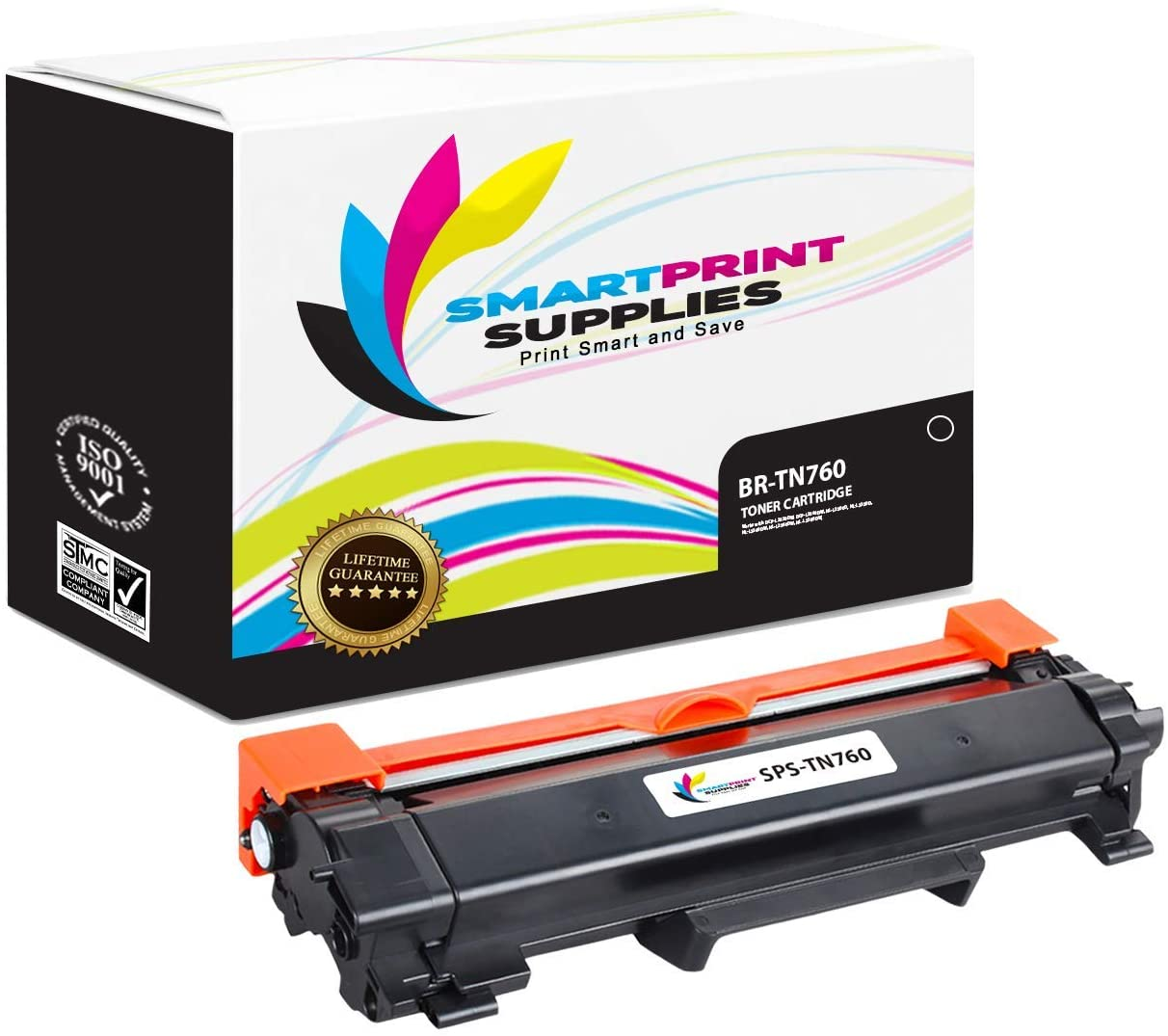 Smart Print Supplies Compatible TN760 TN-760 Black High Yield Toner Cartridge Replacement for Brother HL-L2350DW L2370DW L2390DW L2395DW, MFC-L2710DW L2750DW, DCP-L2550DW Printers (3,000 Pages)