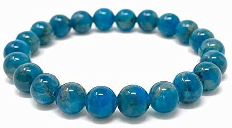 Apatite Power Bead Crystal Bracelet - Genuine Healing Crystal Gemstone Bracelet - Size choices 8mm Code- WAR6972
