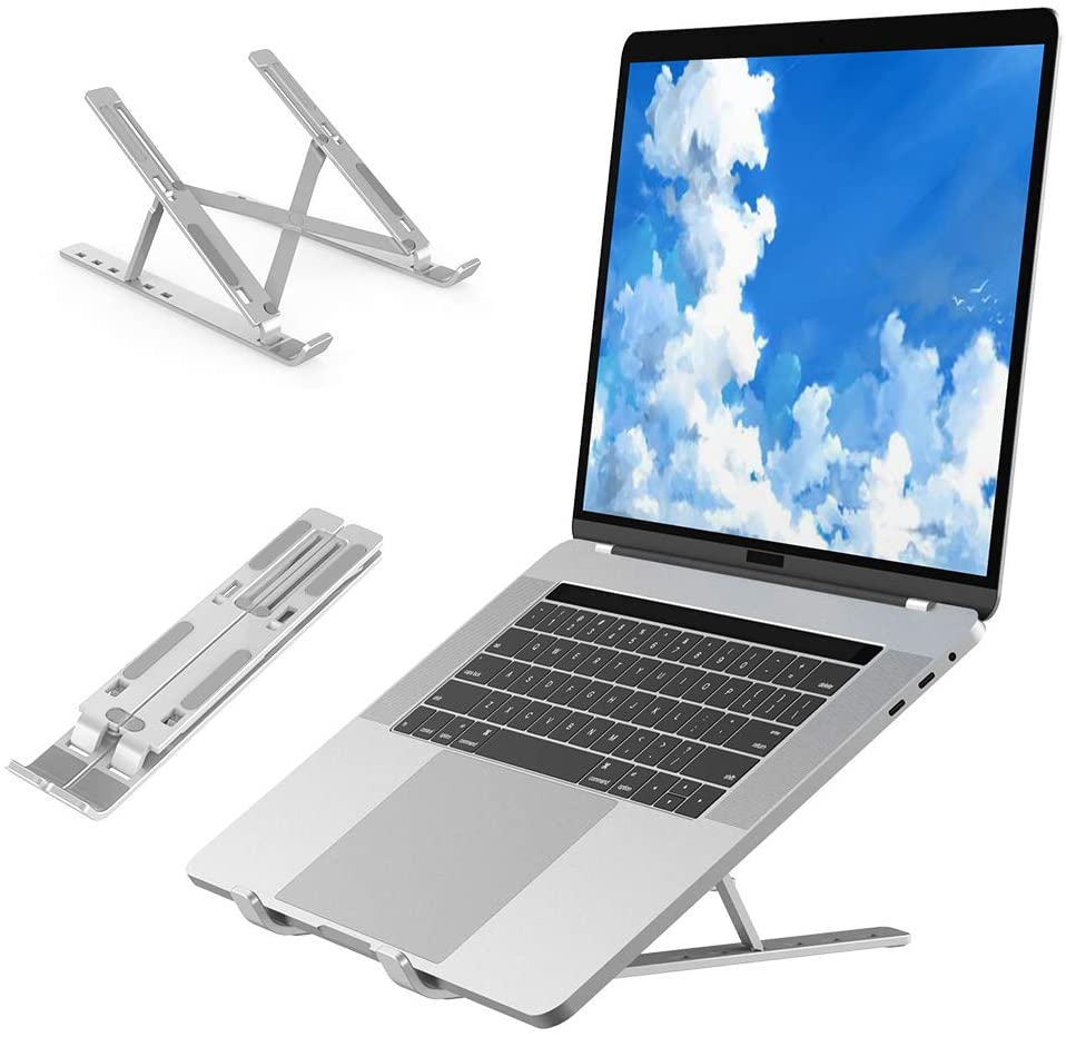 Laptop Stand Tablet Stand Foldable Laptop Computer Stand Children Laptop Compatible Laptop Stand Portable Computer Stands, Aluminum Laptops Holder (6 Height)