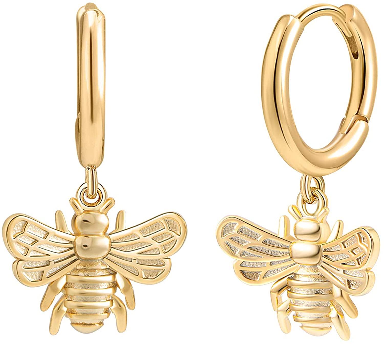 Small Huggie Hoop Earrings 14K Gold Plated Hypoallergenic Minimalist Ear Jewelry