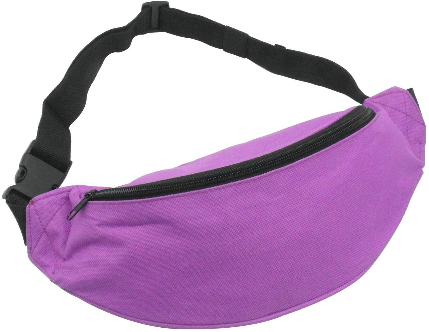 INNOLIFE Unisex Men Women Fashion Sporty Multi-Purpose 2-Zipper Waist Belt Bag Fanny Pack Adjustable Strap for Sport Hiking Traveling Passport Wallet