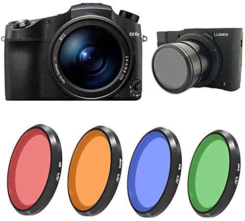 QKOO Red/Orange/Blue/Green Full Color Filter for Canon G5 / G7 for Sony RX100 M1 M2 M3 M4 M5 for Panasonic LX10 LX15 LX100 Lens Filter