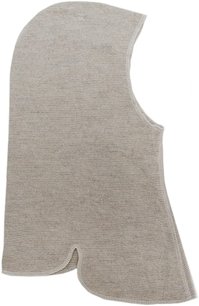 LANACare Certified-Organic Merino Wool Balaclava/Riding Hat, Soft Sand, Size S/2-5 yr