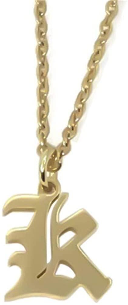 Elefezar Old English Initial Alphabet Letter Necklace
