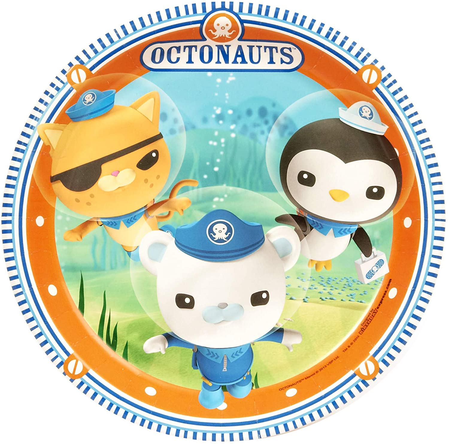Birthday Express The Octonauts Party Supplies - Dinner Plates (8)
