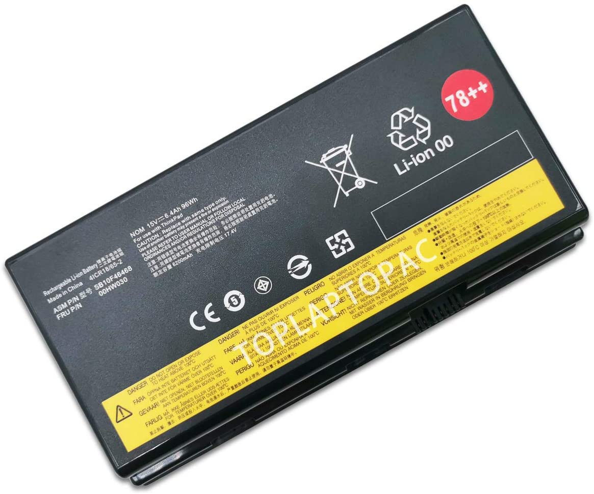 New 15V 96Wh 6400mAh 00HW030 SB10F46468 Battery Compatible with Lenovo ThinkPad P70 Series 78++ Laptop