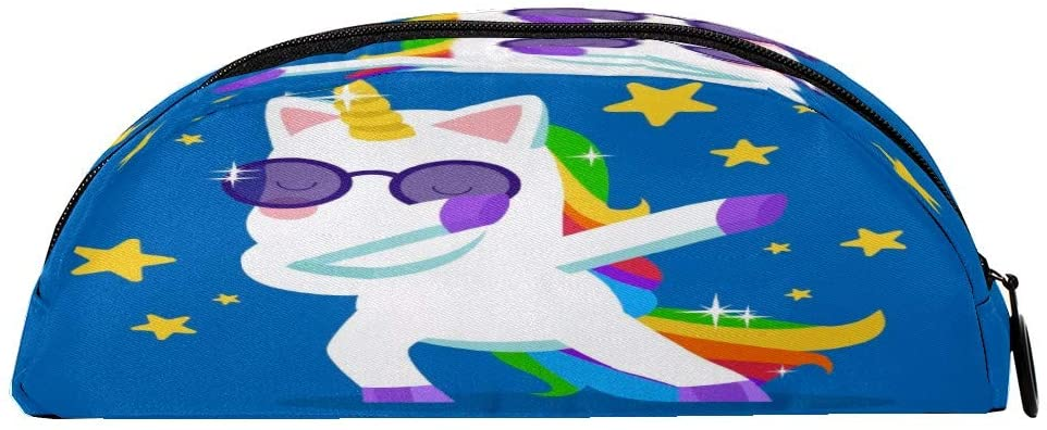 Pencil Cases Unicorns Dabbing Zipper Pencil Bag Multifunctional Stationery Cosmetic Makeup Holder Pouch for Kids Girls Boys Men Women