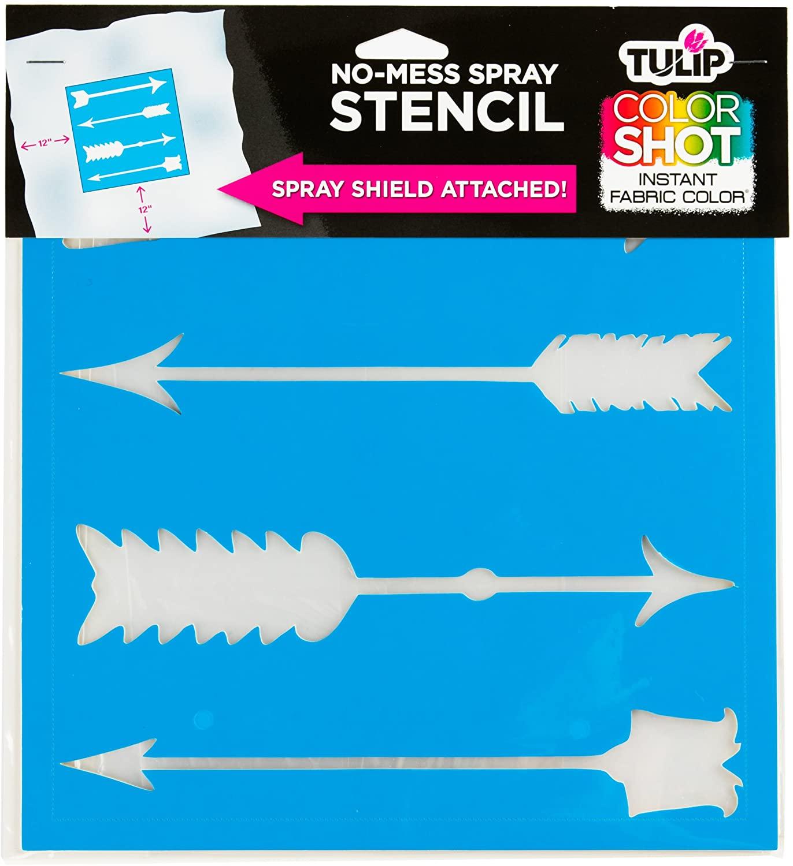 Tulip ColorShot No Mess Spray Stencil Arrows