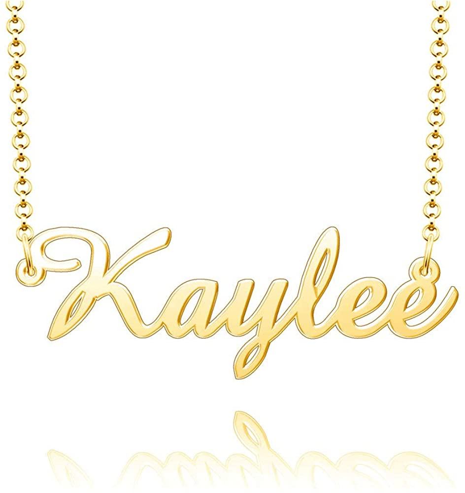 CharmSStory Sterling Silver Name Necklace Personalized Customized Pendant for Girls Boys Men Women
