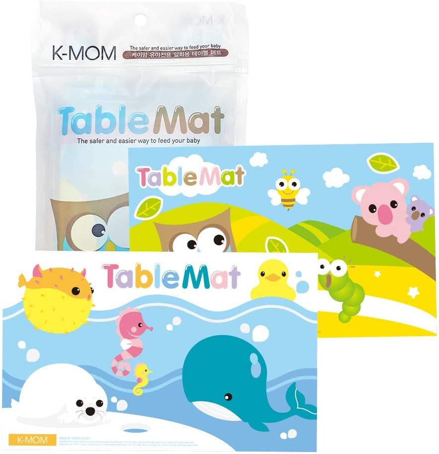 K-MOM Disposable Toddler Baby Infant Restaurant Meal Table Mat 20 Sheets
