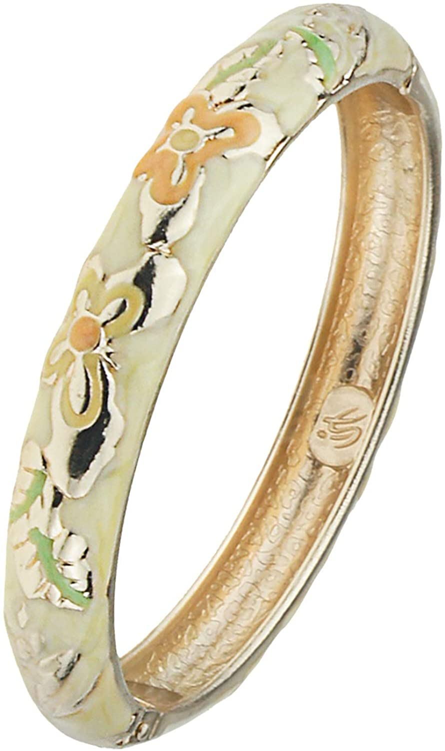 UJOY Enamel Bracelet Gorgeous Butterfly Painting Wedding Birthday Gifts Cuff Bangles Jewelry 55A102