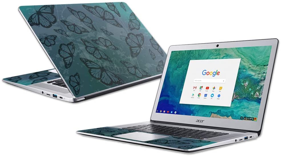 """MightySkins Skin Compatible with Acer Chromebook 15"""" (2018) - Dark Butterfly 