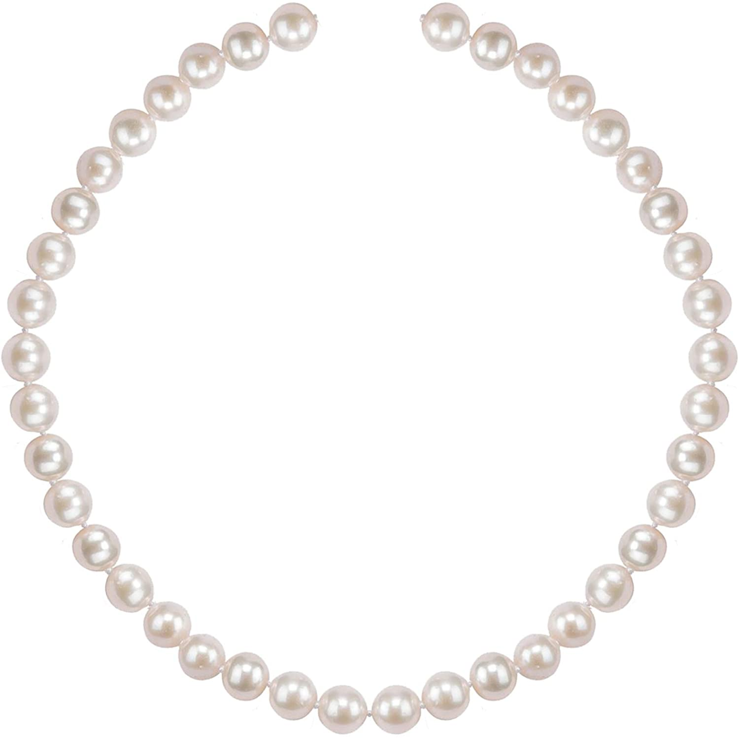 PAVOI Handpicked Freshwater Cultured Pearl Necklace Strand - High Luster White