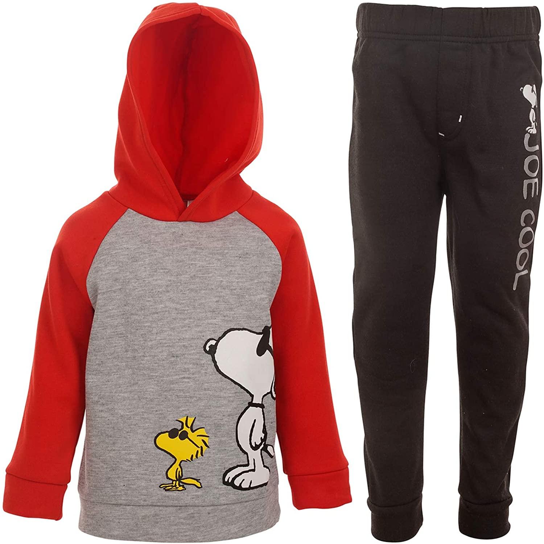 Peanuts Snoopy Boys Raglan Pullover Hoodie and Pants Set