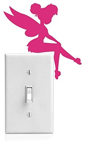 Yoonek Grapics Tinker Bell Decal Sticker for Light Switch, Car Window, Laptop and More # 933 (4