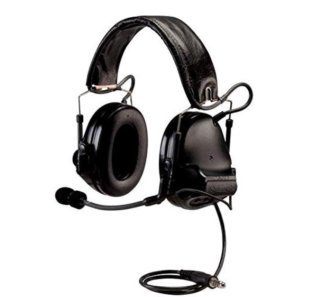 3M PELTOR ComTac ACH Communication Headset MT17H682FB-49 SV, Dual Comm, Single Downlead, Flexi Boom Mic, Black
