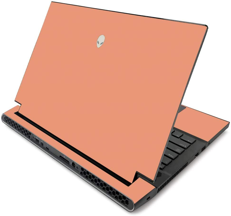 MightySkins Skin for Alienware m17 R2 (2019) - Solid Peach | Protective, Durable, and Unique Vinyl Decal wrap Cover | Easy to Apply, Remove, and Change Styles | Made in The USA