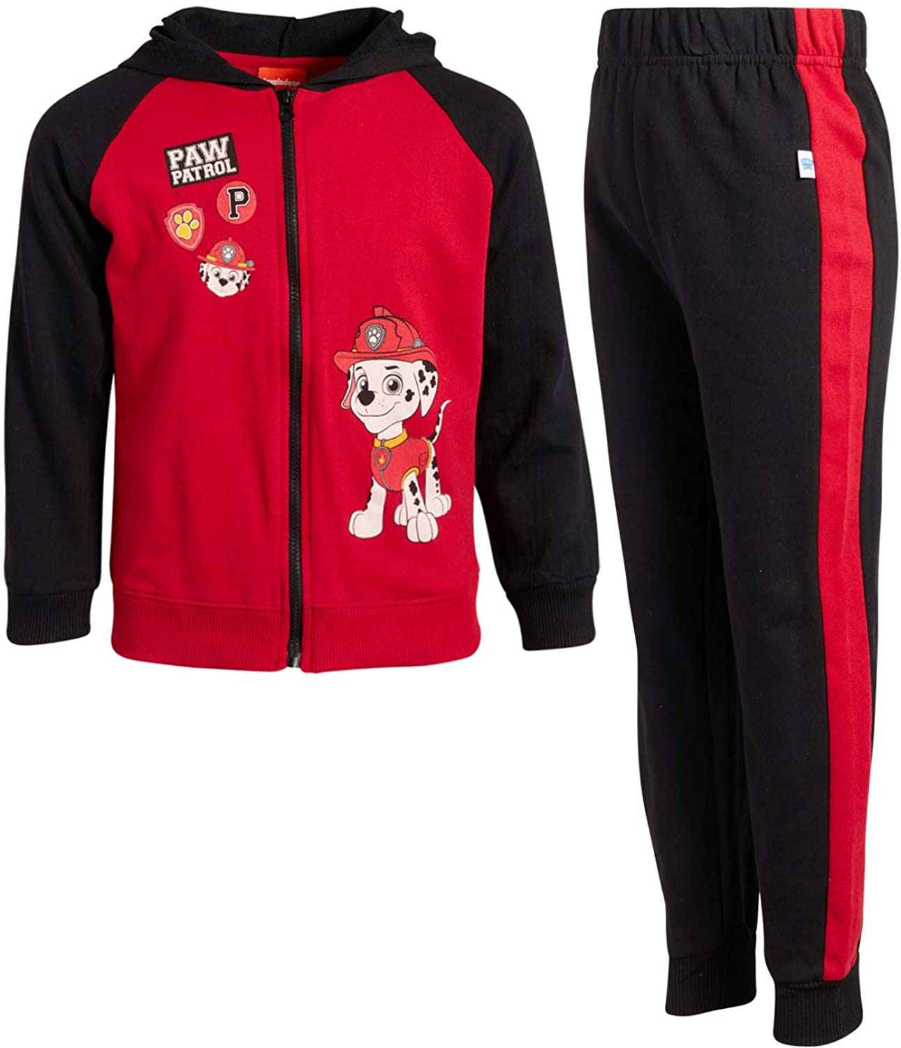 Nickelodeon Boys Paw Patrol 2-Piece Jogger Set - Fleece Zip-up Hoodie and Jogger Pant