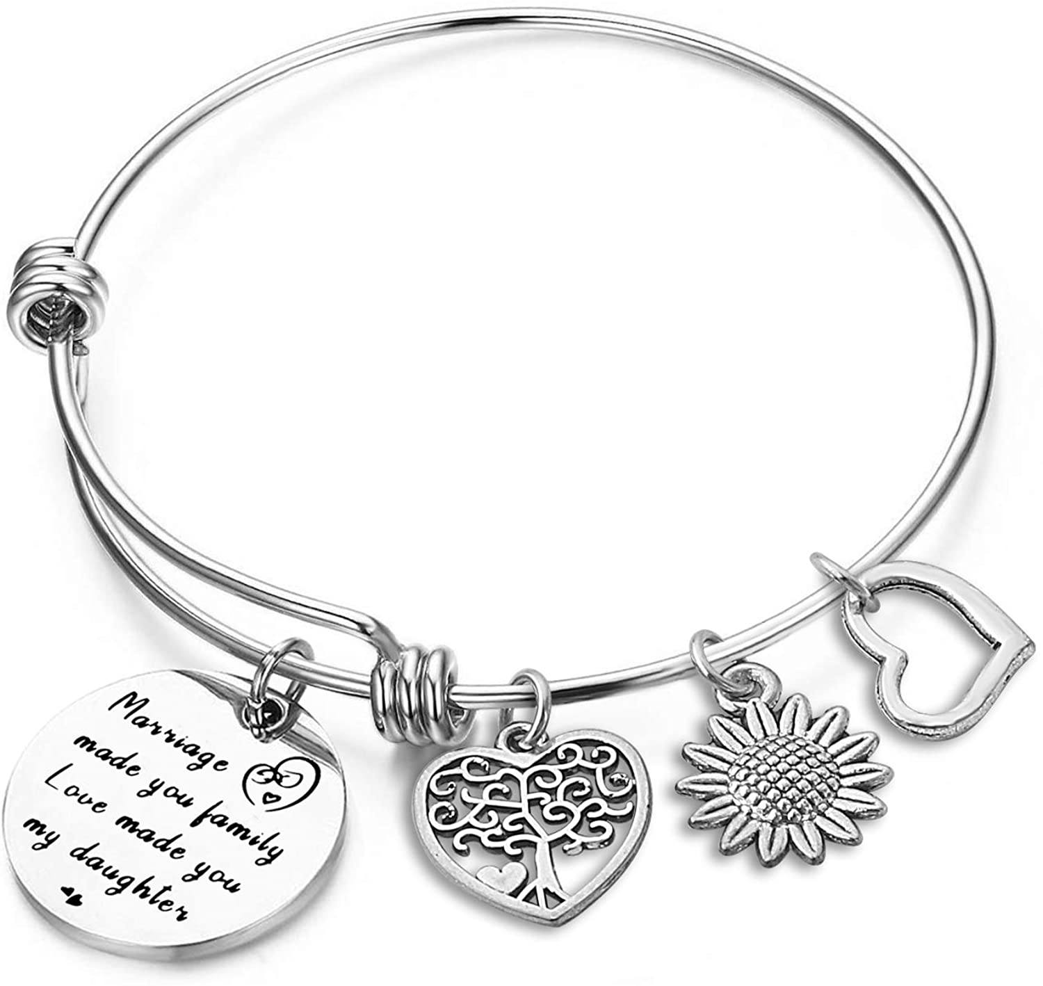 Bracelet for Mom from Daughter, Mothers and Daughters Never Truly Part Maybe in Distance But Never in Heart, Long Distance Bangle Bracelet for Mom