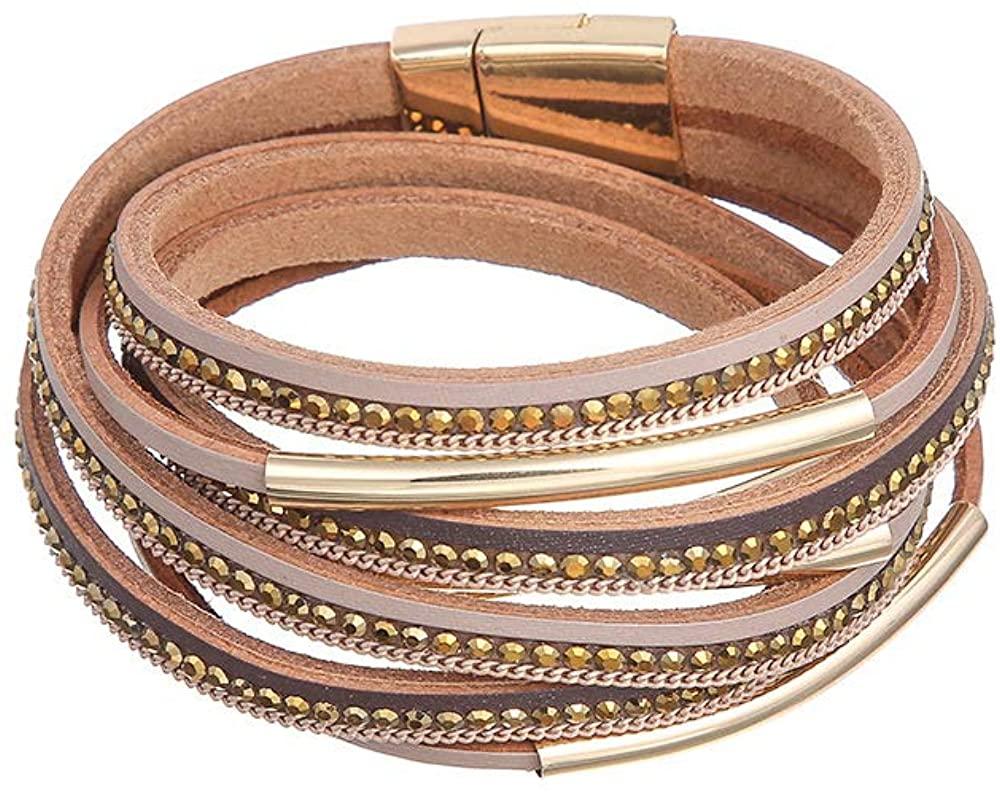 Multi Layer Leather Bracelet