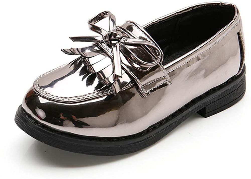 Chiximaxu Women's Slip on Loafer Flats Tassel Casual Work School Low Heel Shoes for Girl