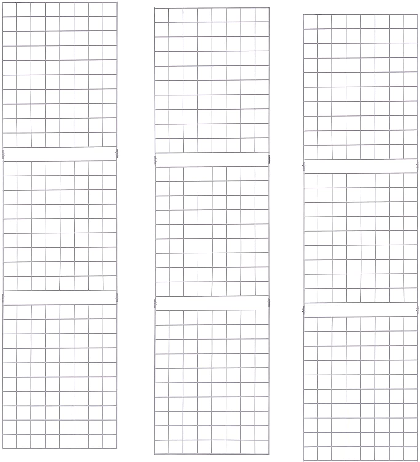 ECONOCO Portable 2' X 8' White Grid Panels - Pack of 3