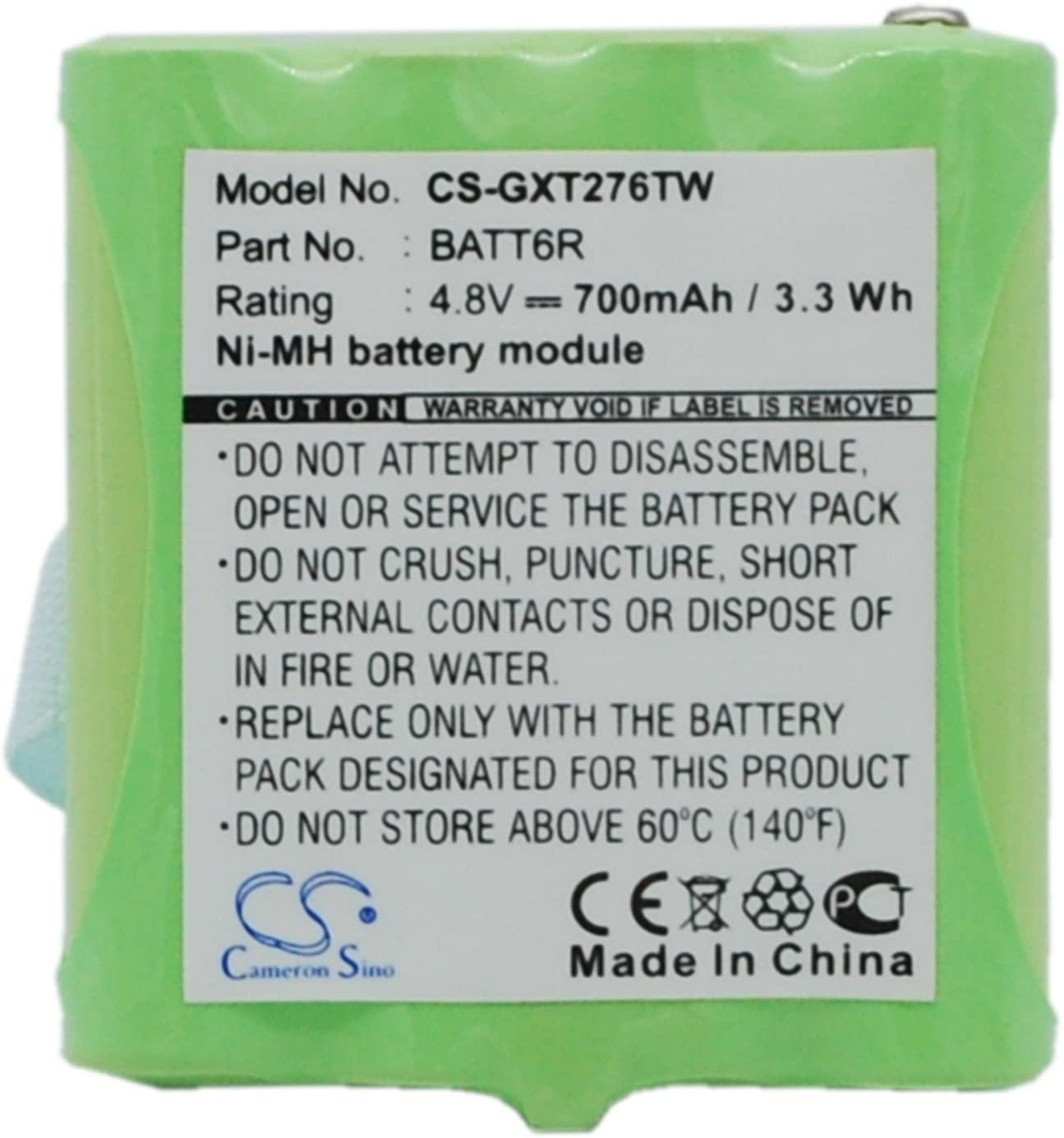 Battery Replacement for Midland BATT6R BATT-6R GXT635 GXT650 GXT661 LXT210 LXT276 LXT314 LXT317 LXT318 LXT319 LXT320 LXT322 LXT323 LXT324 LXT330 LXT335