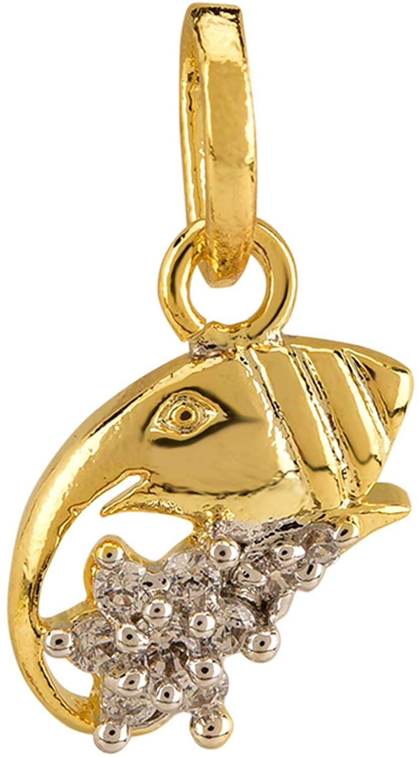 Efulgenz Silver Plated Cubic Zirconia Religious Lord Ganesha Pendant Chain Necklace Jewelry for Women Girls