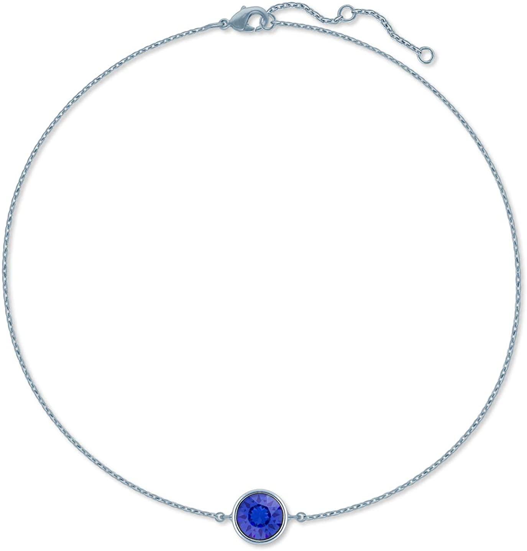 Ed Heart Women's Chain Bracelet with Round Crystals from Swarovski