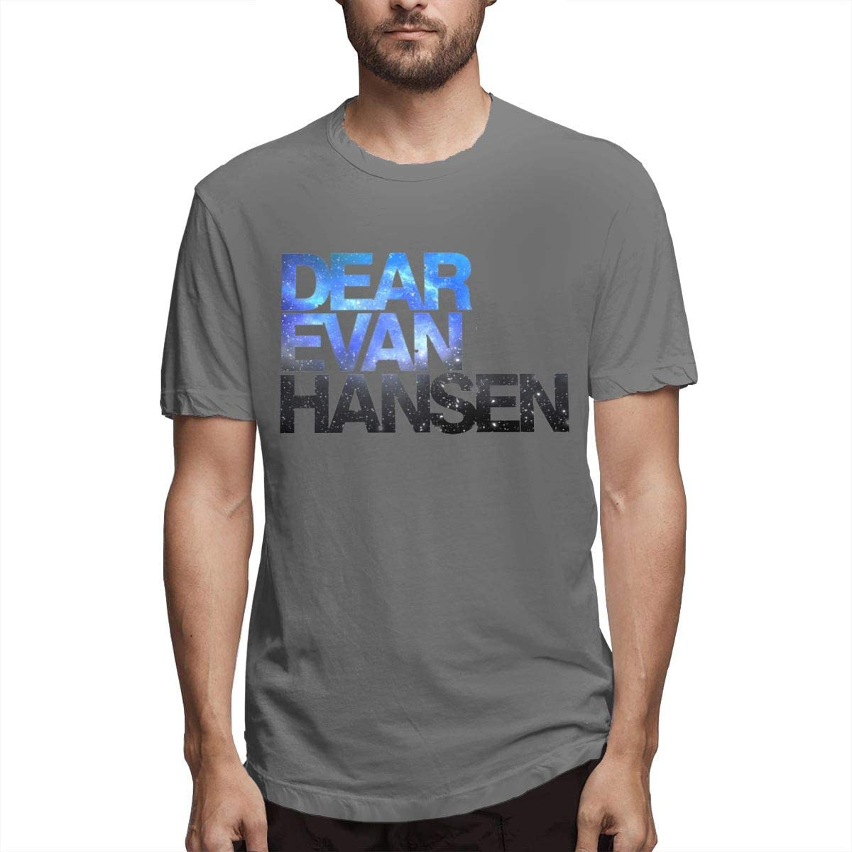 Fishoceany Printed T-Shirts with Dear Evan Hansen Design Running Men's Top