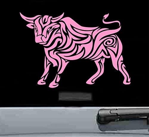 Chinese zodiac ox Vinyl Decal Sticker (SOFT PINK)
