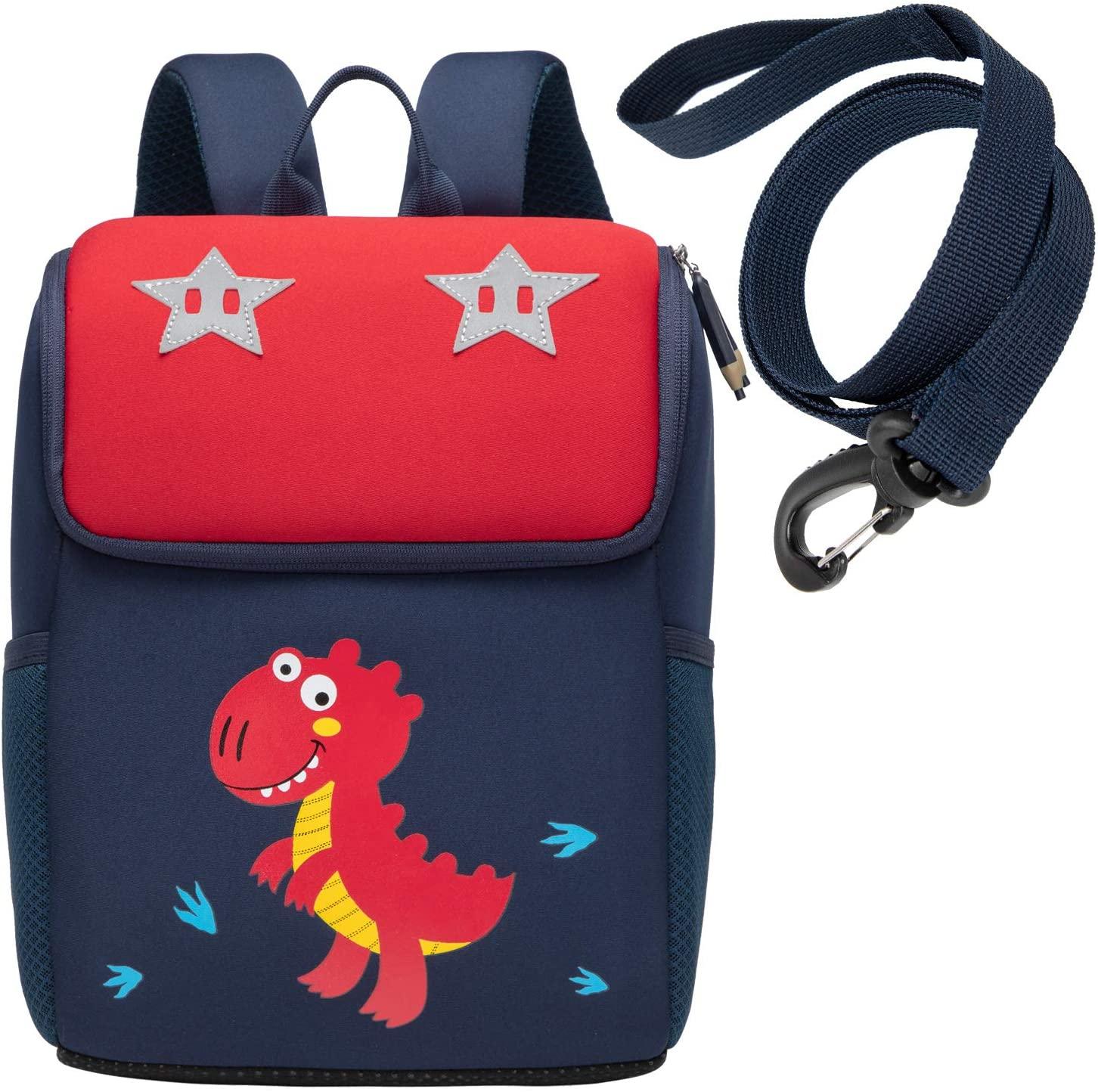 willikiva Kids Toddler Backpack for Boys and Girls Children Dinosaur Preschool Backpack Waterproof Kindergarten Bag Safety Harness Leash (Dinosaur)