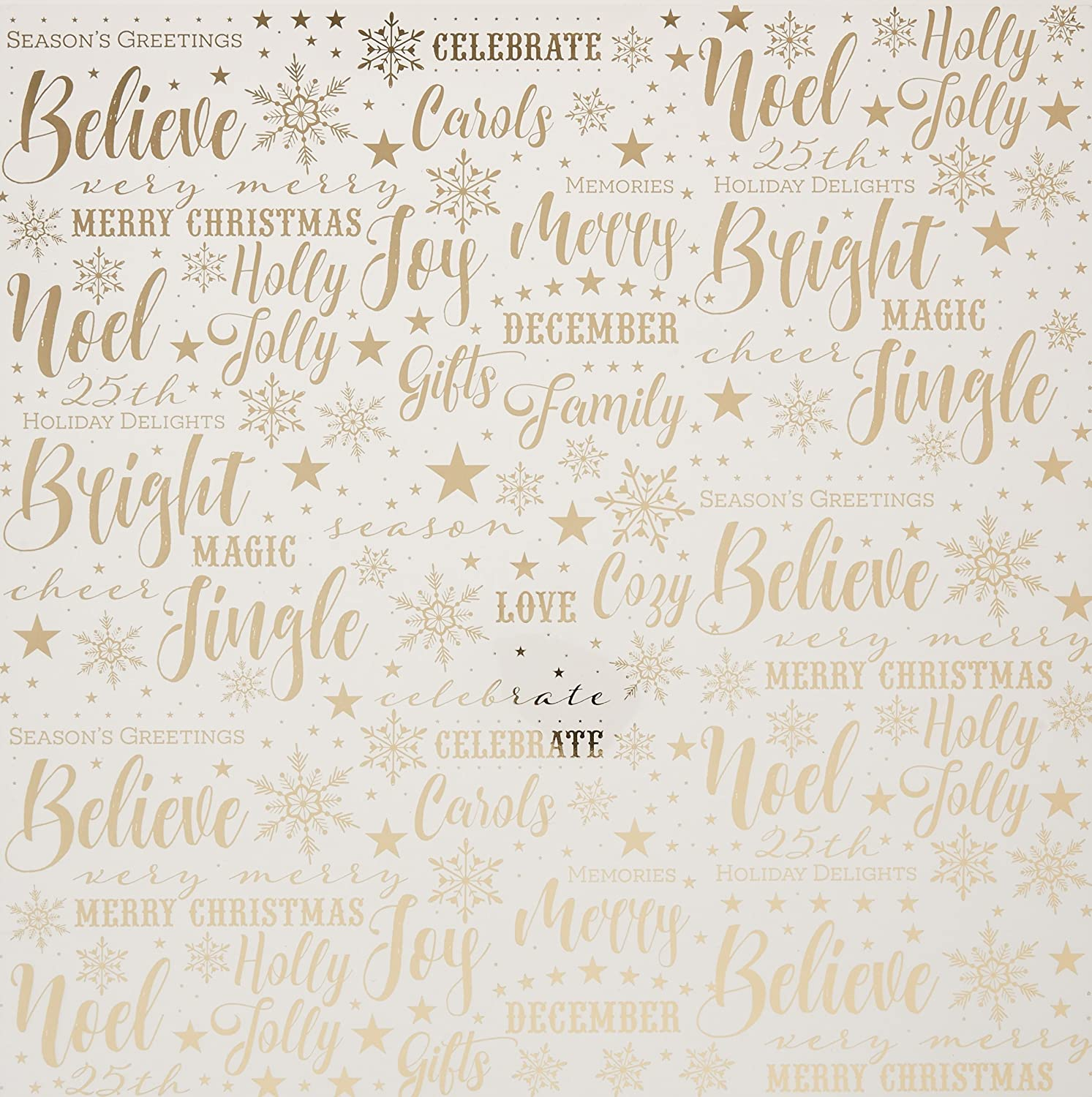 Paper House Productions Christmas Joy Paper, Acetate, 15-Pack