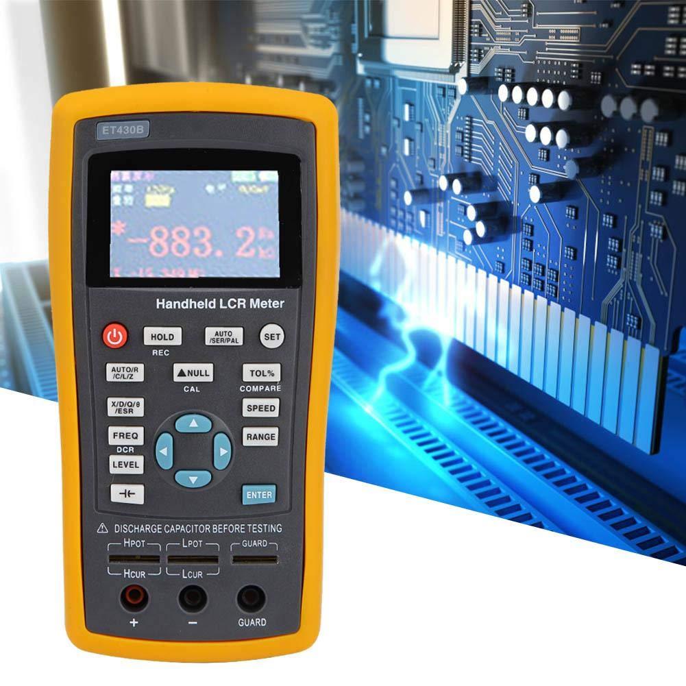 Digital Resistance Meter, Multifunction Handheld Digital Resistance Inductance Capacitance Meter Tester 100~240V Electric Accessories Digital Resistance Inductance Capacitance Meter(ET430B)