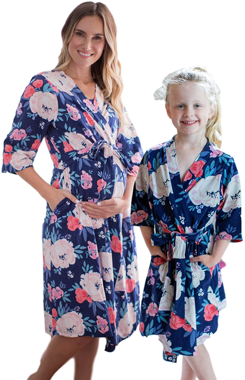 Mommy & Me Robe Set, Family Matching Mom & Daughter Girl Sleepwear