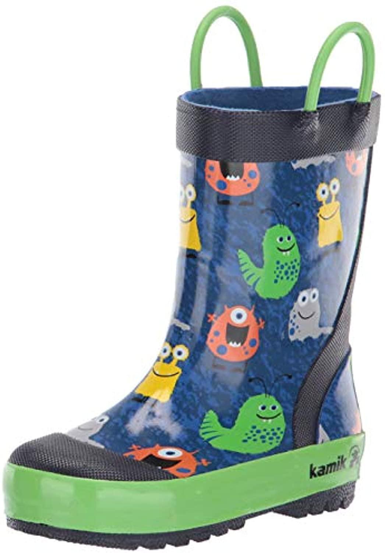 rain boots Bundle: Kamik Youth Monsters Rain Boots & Umbrella