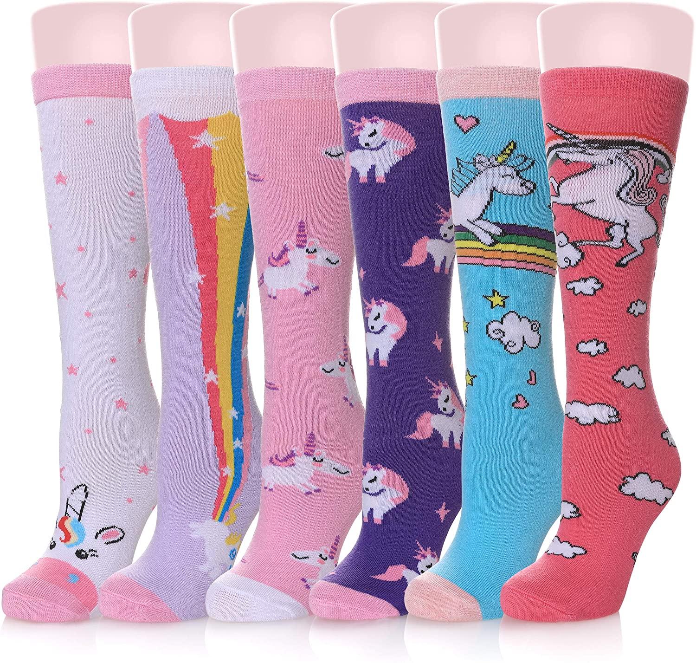Girls Socks Knee High Socks Cartoon Animal Warm Cotton Stockings