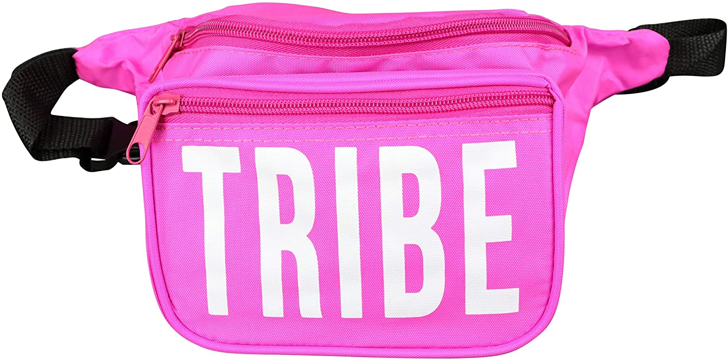 pandaSWAG Bachelorette Party Tribe Fanny Pack - Bride Squad Phanny Packs - Pink Tribe Fannie Pack with White Letters